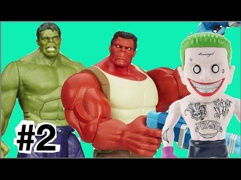 #2 Hulk Vermelho Red Hulk  Coringa Joker X Hulk verde Marvel brinquedos ...