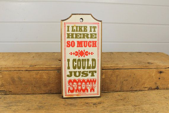 1975 Vintage Funny Wooden Decorative Sign Wood Wall Hanging Vintage Wooden Signs Wooden Signs Diy Vintage Humor