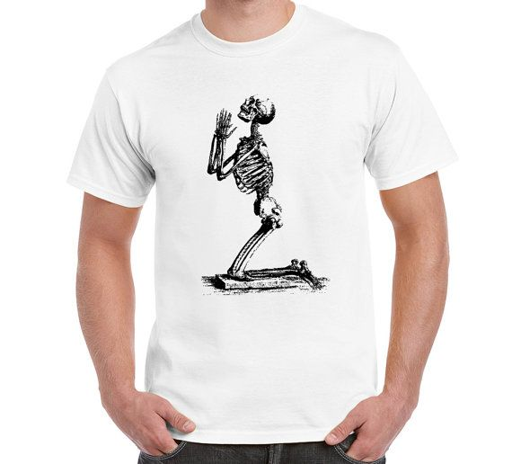 Skeleton Pray Funny Logo T Shirt TShirt Fun by FreakyTshirtShop