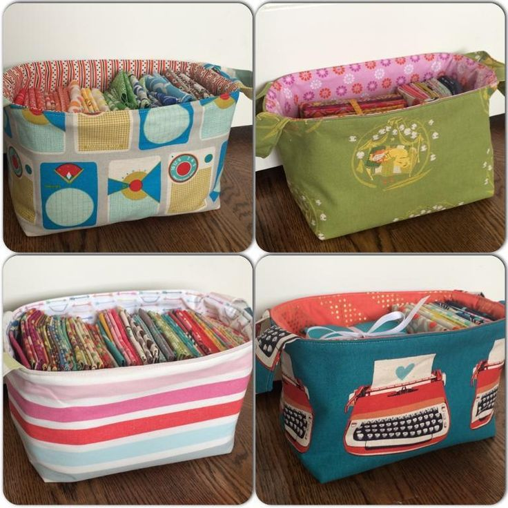 1 hour fabric basket.  Love these baskets with fabric handles.  Perfect for storing fabric, toys, cosmetics, or for giving gifts. I'm making mine in nursery fabric and filling it with goodies for a baby shower. FREE Pattern.