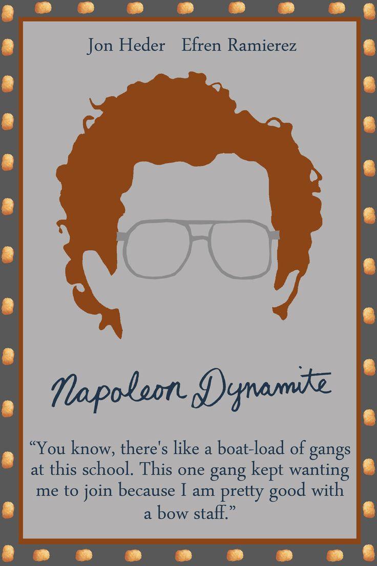 Napoleon Dynamite Jared Hess 2004 Minimal Poster Set Author Rsholtis