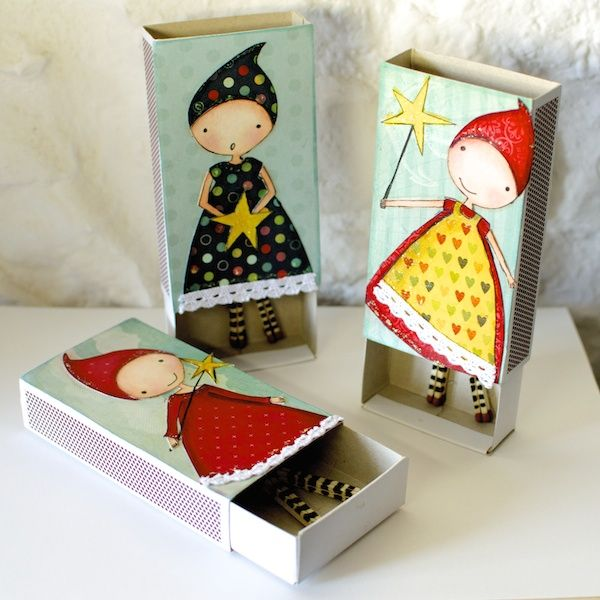 These matchbox girls are so darling. There's video on Youtube, too! nicoletta zanella, decorated matchbox