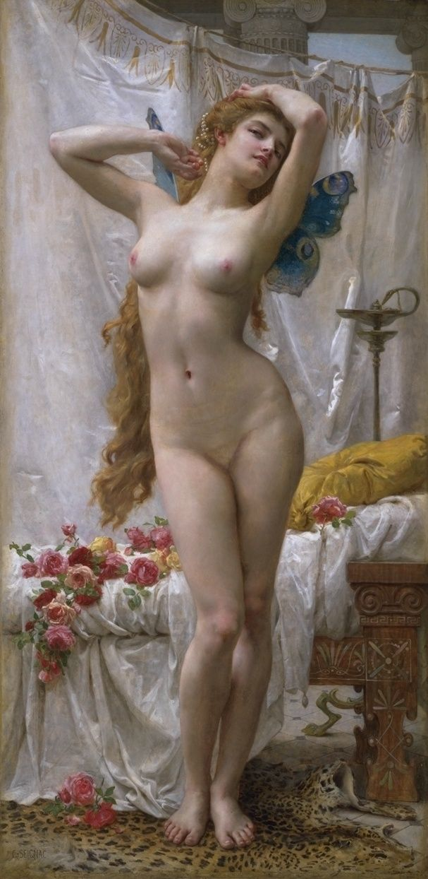 The Awakening of Psyche - Guillaume Seignac (1870–1924) - Guillaume Seignac was a student of: William Adolphe Bouguereau