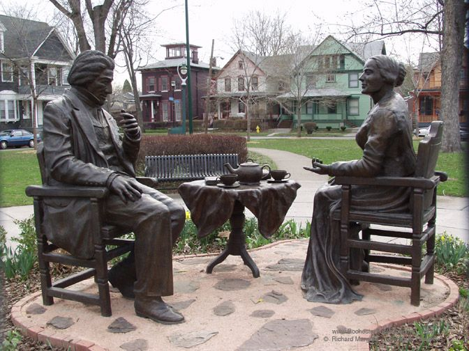 Image result for frederick douglass statue rochester ny