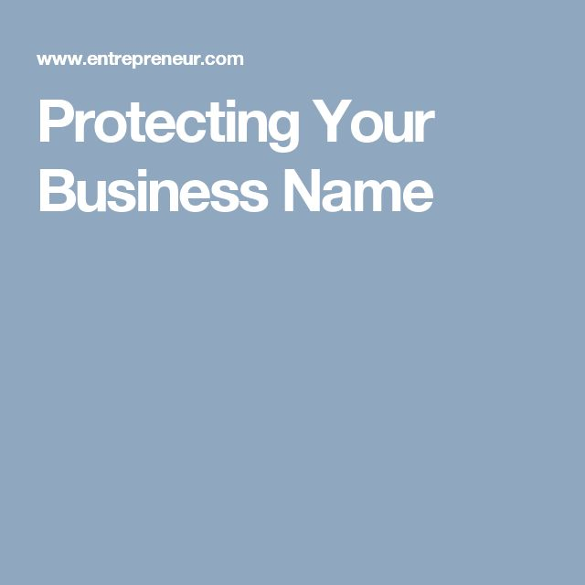 Protecting Your Business Name