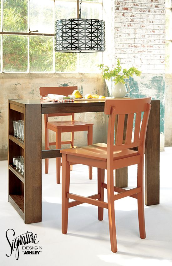 Ashley Furniture Dining Room Table Set: Birnalla Rectangular Counter Table With Storage And