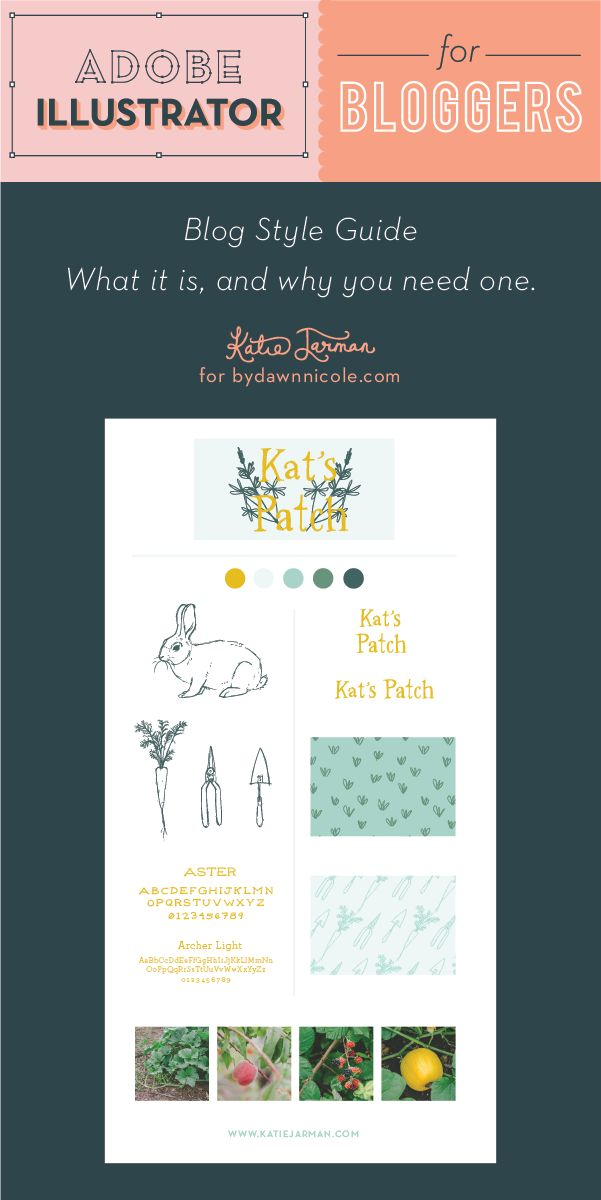 Adobe Illustrator for Bloggers – Blog Style Guide, what it is and why you need one