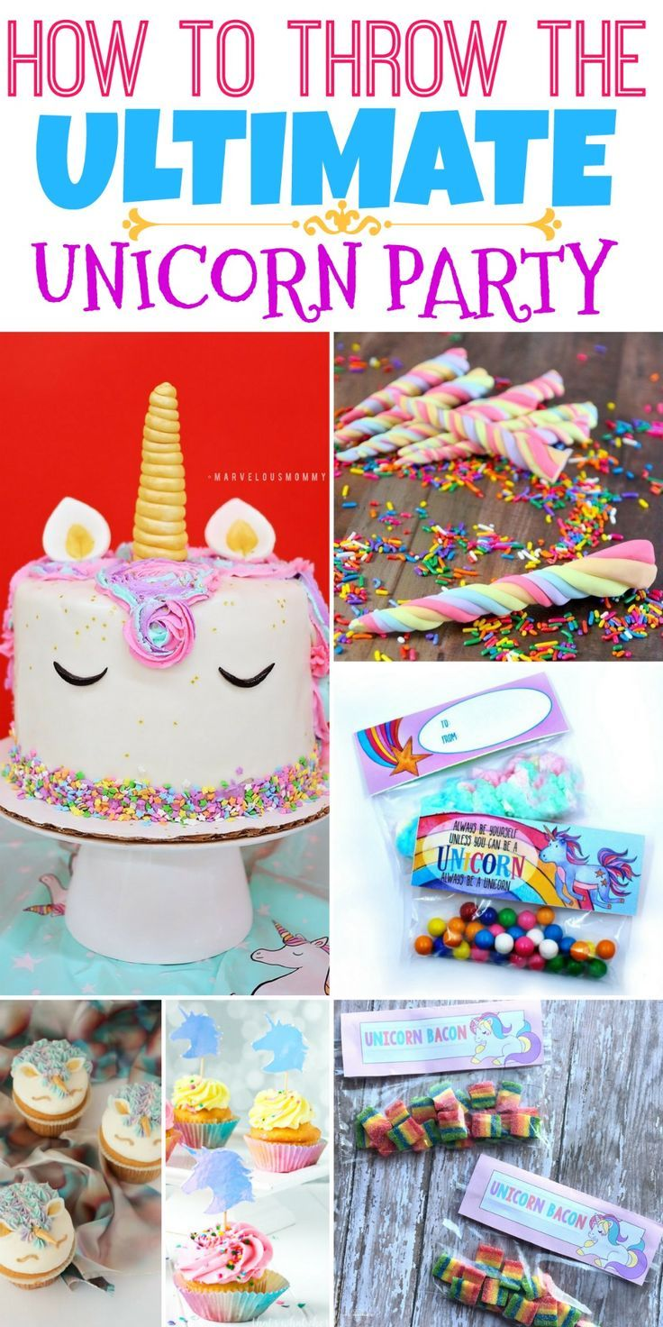 Check out How to Throw the Ultimate Unicorn Party!  These Unicorn Treat ideas, fun party ideas, and kid-friendly snacks are ideal for making the ultimate Unicorn Birthday Party! #birthday #unicorn