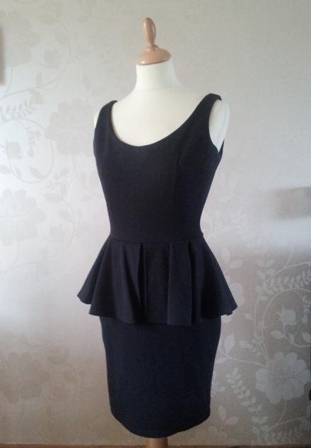 Jersey peplum dress