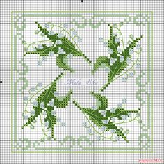 lily of the valley cross stitch pattern - Google Search