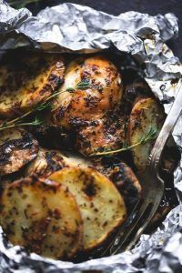 PACKS OF CHICKEN AND POTATOES GRILLED WITH HERBS – Recipe – #amp #CHICKEN #FOIL …   – Foil Pack Dinner Recipe
