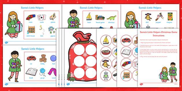 Santa's Little Helpers Christmas Game - santas little helpers, christmas, game, activity