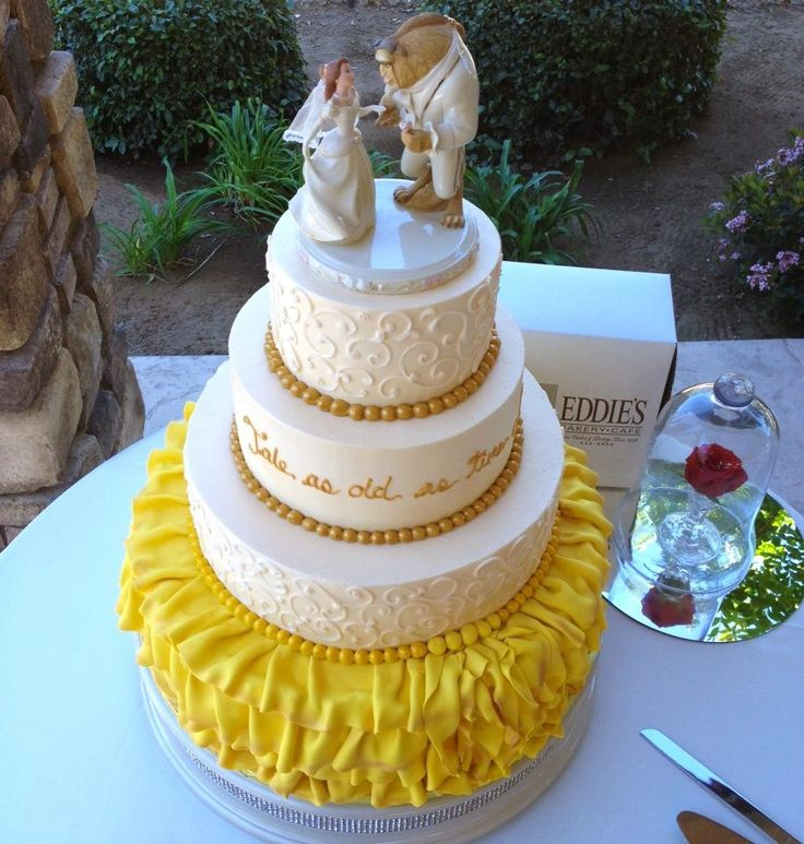 My Beauty and The Beast wedding cake! Best cake ever!!!