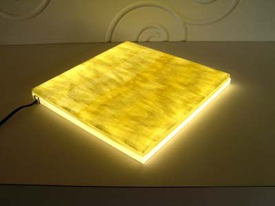 Translucent Honey Onyx Stone Backlit With Led Panel 0 D