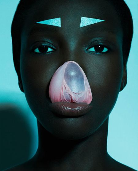 pop africana fashion editorial #bubblegum #blue