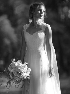 Lusan Mandongus wedding dress. See more inspiring ELLE weddings here http://www.elleuk.com/style/wedding-blog/elle-real-weddings