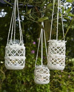 Frascos con crochet