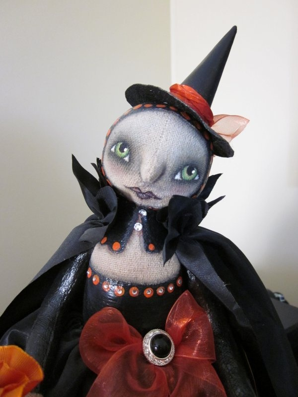 Primitive Folk Art Halloween Gothic Witch Doll by Outside the Box Primitives | eBay