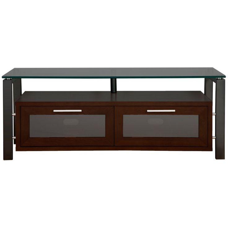 Plateau Decor 50 Inch TV Stand in Espresso/Black and Black - DECOR 50 (E)-B-BG