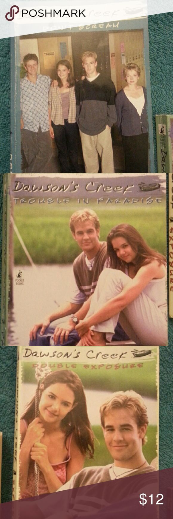Dawson's Creek books Four Dawson' Creek books in great shape! Some corners have a little bit of normal wear to them. No writing or rips in them. Great gift for young adults!!!! Other