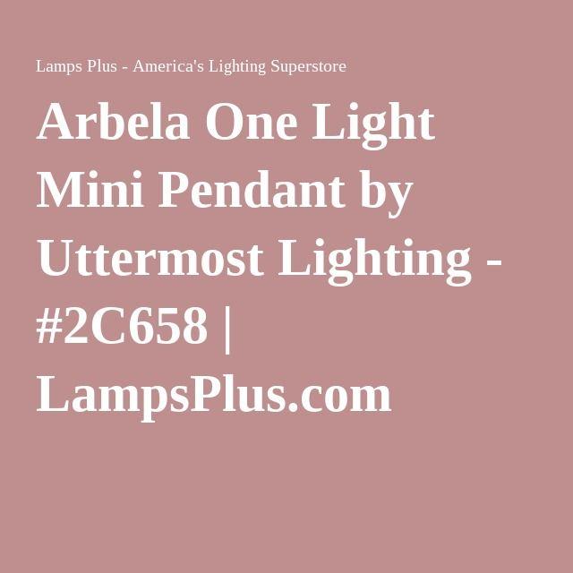 Arbela One Light Mini Pendant by Uttermost Lighting - #2C658 | LampsPlus.com