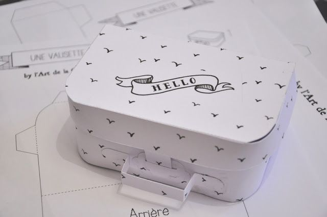 FREE printable suitcase