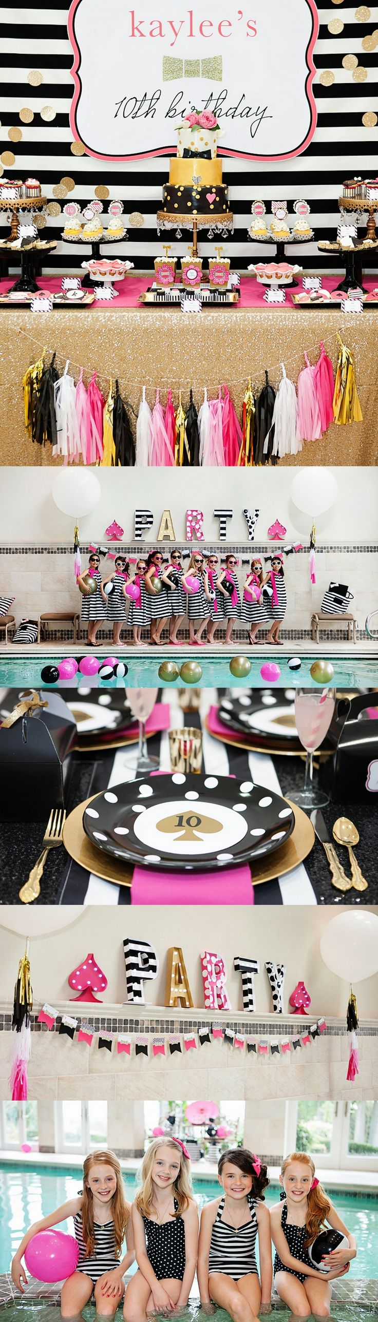 Kate Spade Inspired Party styled by Banner Events | Featured on The TomKat Studio http://www.thetomkatstudio.com/kate-spade-inspired-birthday-party/