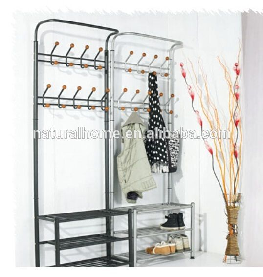 Source Home furniture metal hat stands coat hanger stand with shoe rack space saver on m.alibaba.com