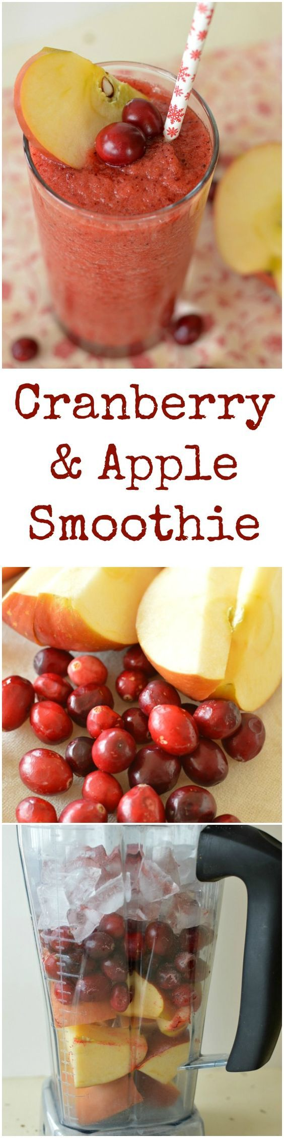 A refreshing, no sugar added, cranberry and apple smoothie! It's a healthy way to start the day or a perfect afternoon snack! Little Dairy on the Prairie