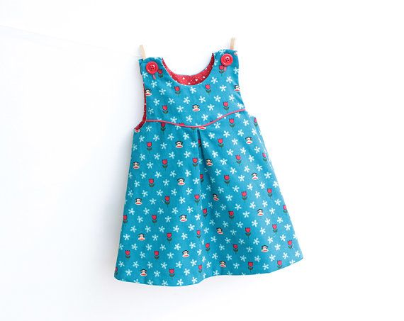 MINI TULIPS Dress Overall Girl Baby Girl sewing pattern Pdf, newborn 3m 6m 9m 18m 1 2 3 4 5 6 years Instant Download