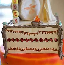 Caros Confections   CAKES - Native American themed cake, Indians and cowboys birthday. coachella cake . Burning man