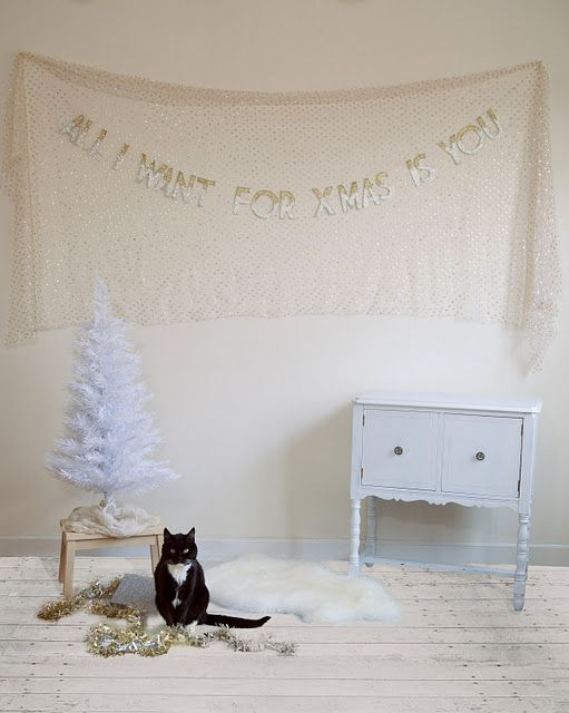 all i want for christmas is you: Christmas Cards, Christmas Time, Cat, Vintage Christmas, Cards Ideas, Christmas Signs, Engagement Parties, Christmas Banners, Christmas Garlands