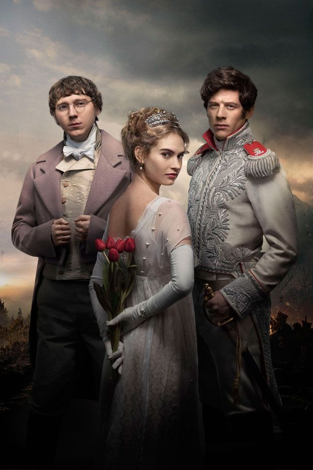 War and Peace BBC1: Lily James stars with James Norton and Paul Dano The six part series, directed by Tom Harper, will begin in January.