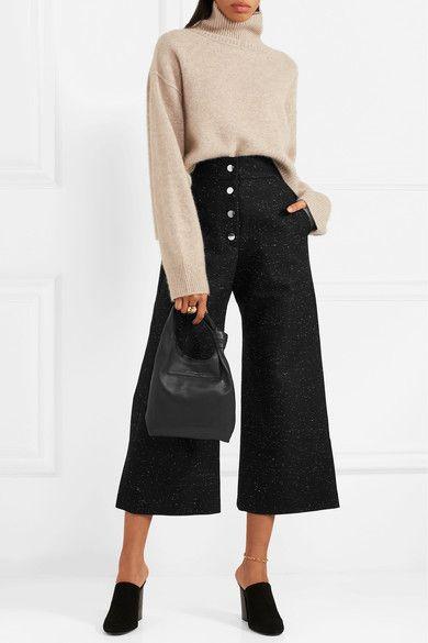 Sid Neigum - Donegal Cotton-blend Culottes - Black