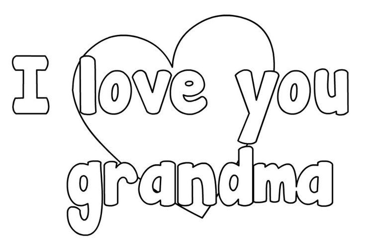 Happy mothers day grandma coloring pages | Mothers day ...