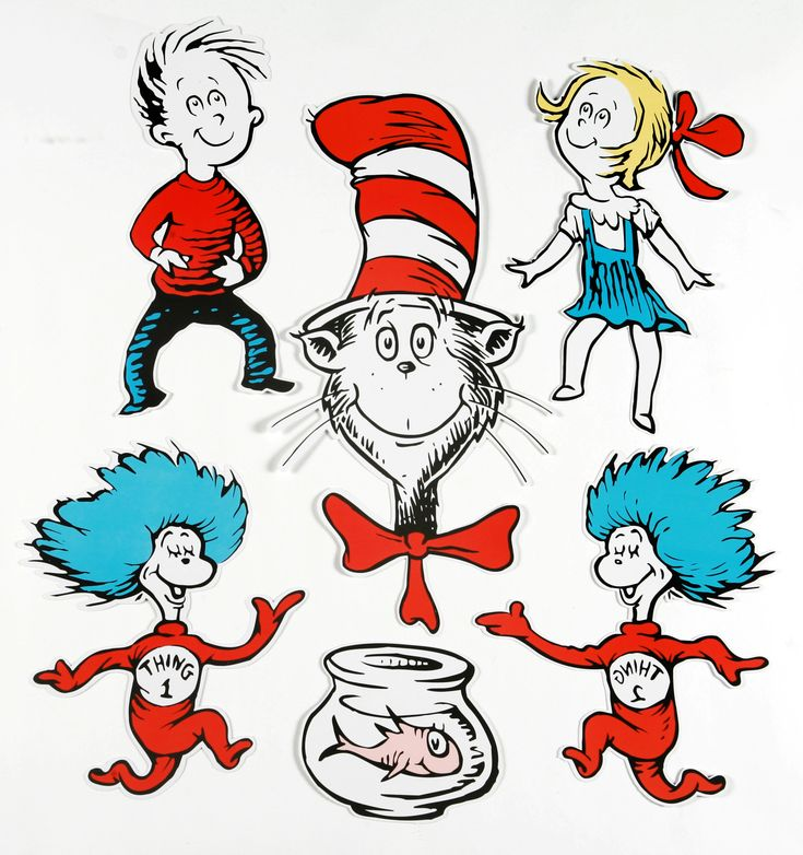 Dr. Seuss Characters | Large Dr. Seuss Characters 2-Sided Classroom Decor | Eureka School