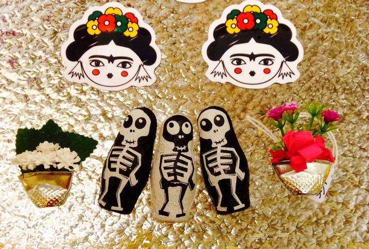 Frida magnets dia de los muertos  Ici-Pici design https://www.facebook.com/icipicicreations?fref=photo