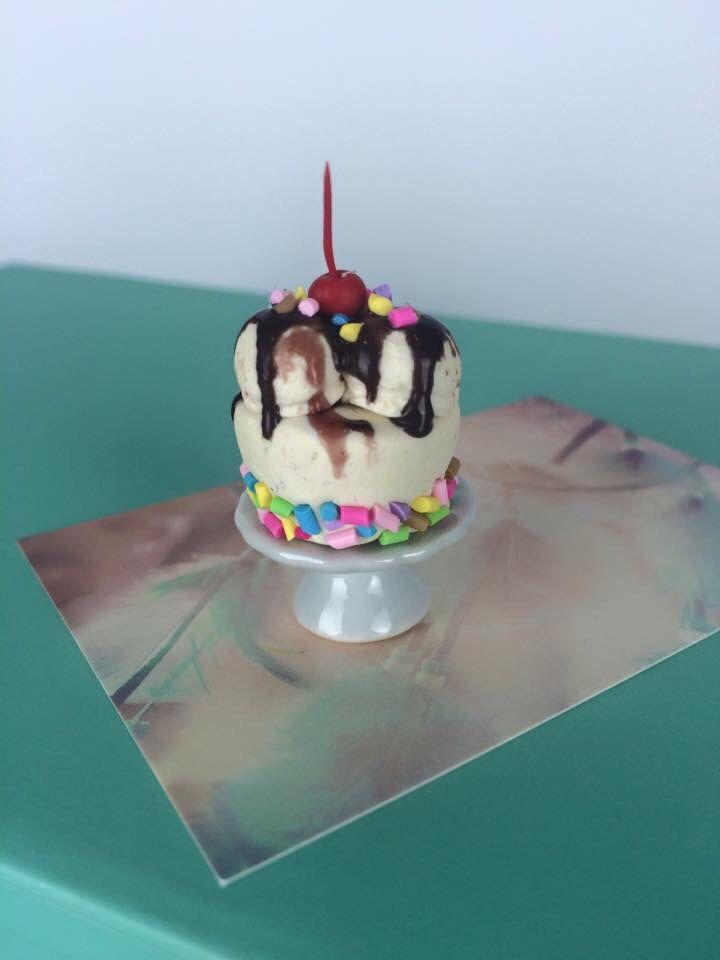 Dollhouse food- icecream sundae cake   by PetiteBoulangerieAU on Etsy https://www.etsy.com/listing/235350610/dollhouse-food-icecream-sundae-cake
