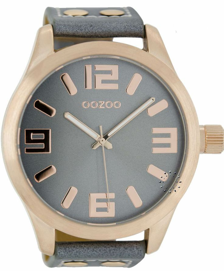 OOZOO Large Rose Gold Timepieces Grey Leather Strap Μοντέλο: C1104 Η τιμή μας: 65€ http://www.oroloi.gr/product_info.php?products_id=38504