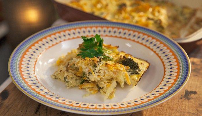 Broccoli and Potato Kugel | Good Chef Bad Chef