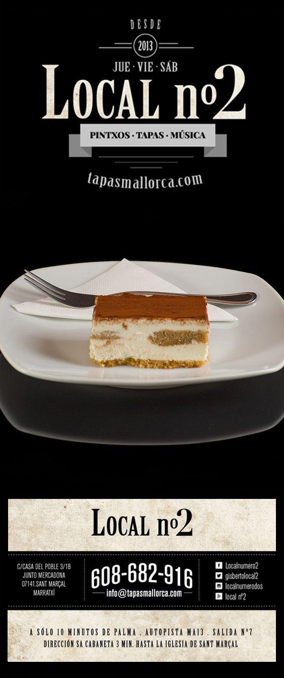 postre / Nachtisch / dessert / Nachspeise / tiramisu / Tiramisu / de local n°2 / local2 / localnumero2 / localnumerodos / Marratxí / Mallorca / info@tapasmallorca.com … 608-682916
