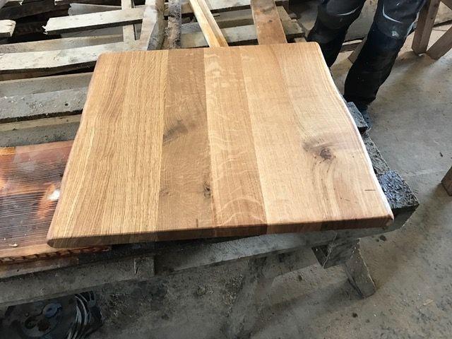 Eiche Tischplatte Verleimt Kuchentisch Baumkanten Geolt