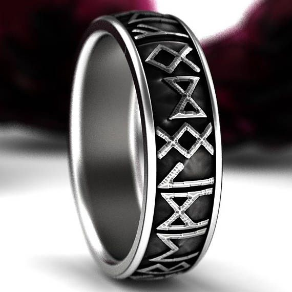 A striking ring design that you wont see anywhere else! Mystical and magical, this ring is themed after the runic alphabet, which was used to write various Germanic languages. Each letter is believed to hold specific power. The earliest known example of a runic alphabet is dated around
