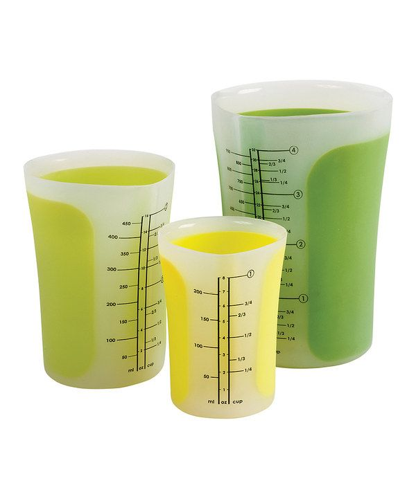 Take a look at this Green Measuring Beaker Set on zulily today!
