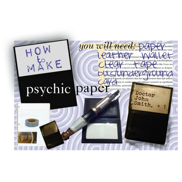 psychic paper Find and follow posts tagged psychic paper on tumblr.