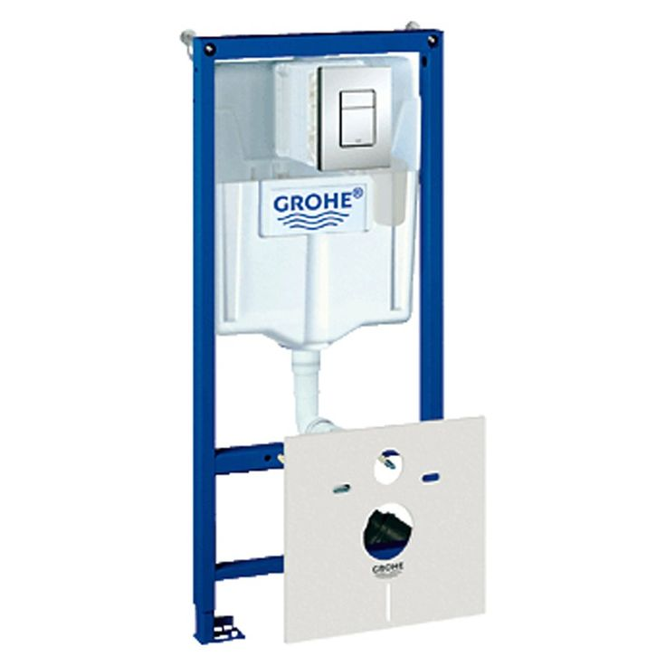 Grohe Rapid SL WC Toilet Cistern Frame & Skate Chrome Flush Pannel 38827000