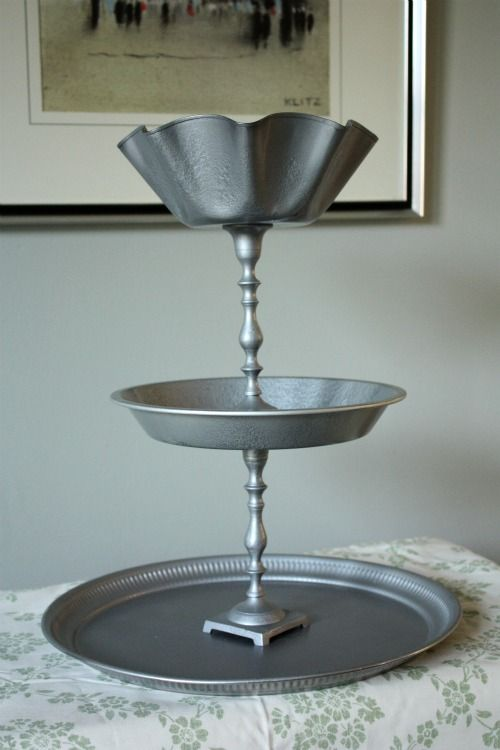 Totally going to make one of these using various pie pan and candle sticks!!!!    Google Image Result for http://www.creativitycollective.org/wp-content/uploads/2012/02/3tray_picnik.jpg