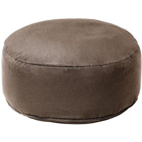 Sunbrella Taupe Indoor/Outdoor Pouf Ottoman ($170) ❤ liked on Polyvore  featuring home - Best 25+ Sunbrella Outdoor Furniture Ideas On Pinterest Orange