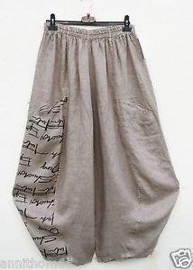 PURO-LINO-Leinen-Ballonhose-Hose-Linen-Trousers-Pantalon-XXL-52-54-Lagenlook