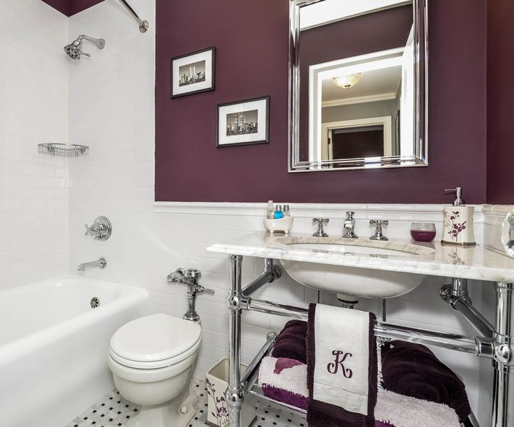 Best Bathroom Victorian Images On Pinterest Architecture At - Plum towels for small bathroom ideas